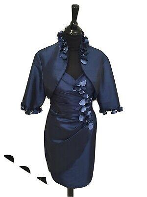 Neu Abendkleid Cocktailkleid  mit Bolero Gr 40 Blau  online kaufen