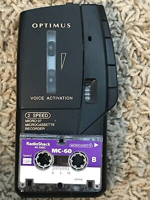 Optimus Micro 37 Voice Recorder Electronics Office Equipment Dictation Tested