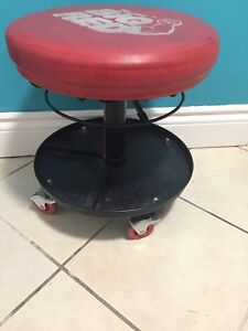Rolling shop stool