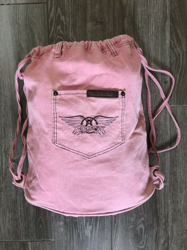 Walt Disney World Aerosmith Rock N Roller Coaster Pink Drawstring Bag
