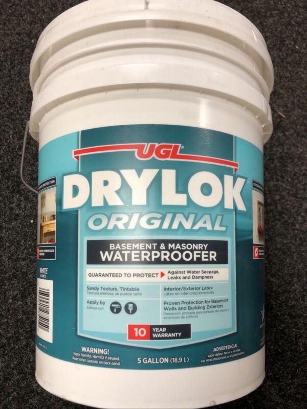 UGL DRYLOK Original White Masonry Waterproofer 5 gallon New