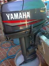2007  30 hp yamaha long shaft outboard motor and tank Beenleigh Logan Area Preview