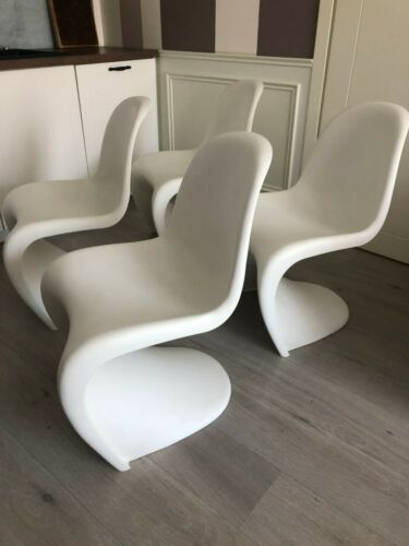 Original Classic Verner Panton Vitra Chairs (4pcs)