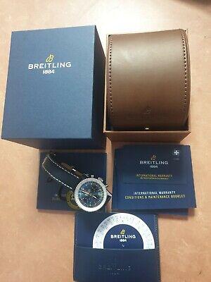 Genuine 2021 Breitling Navitimer 1 43mm Blue/black Dial (AB0121211C1)