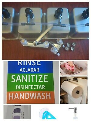 4 Compartment Portable Concession Sink Drain Kit 3 Large 1 Standard Wextras