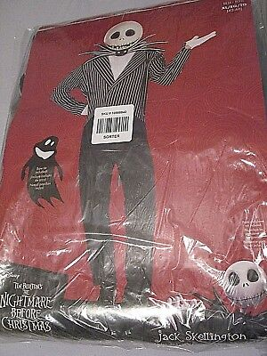 The Night Before Christmas Jack Skellington Deluxe Adult Costume  XL (42-46)