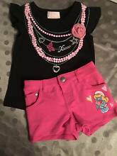 Girls Size 3 top and Pink Smurfette Shorts New Port Noarlunga Morphett Vale Area Preview