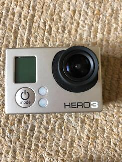 GoPro Hero 3 silver in good working condition for sale