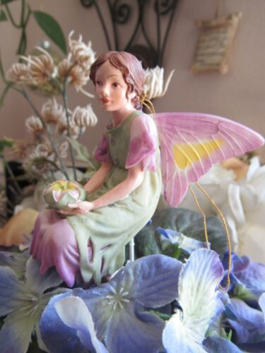 Cicely Mary Barker MALLOW Flower Fairy Ornament Figurine RETIRED!  #87037