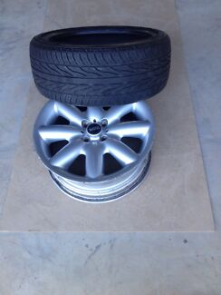 4 Mini Cooper mags and 3 tyres Fulham Gardens Charles Sturt Area Preview