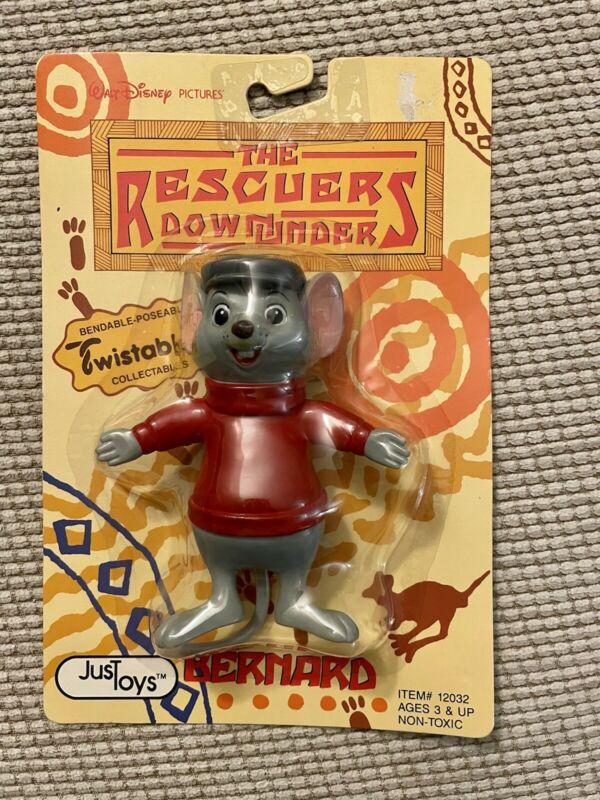 Disney THE RESCUERS Down Under Just Toys Poseable Twistable Bernard New On Card