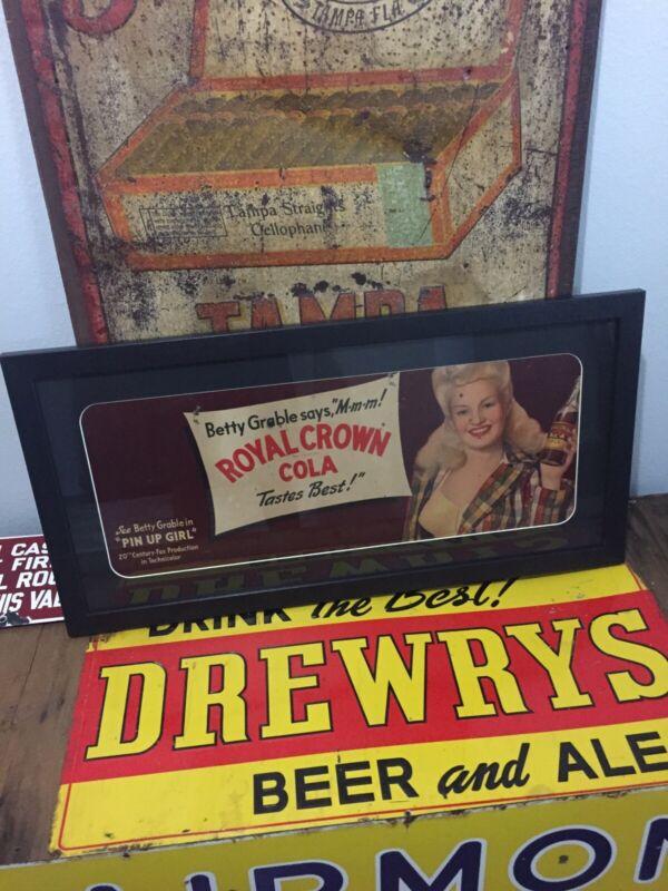 Vintage Royal Crown Cola Betty Garble 1940's Advertisement