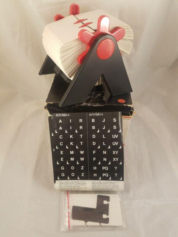Artikats Flip File Rolodex Red Black Plastic Industrial DesignHaythornthwaite
