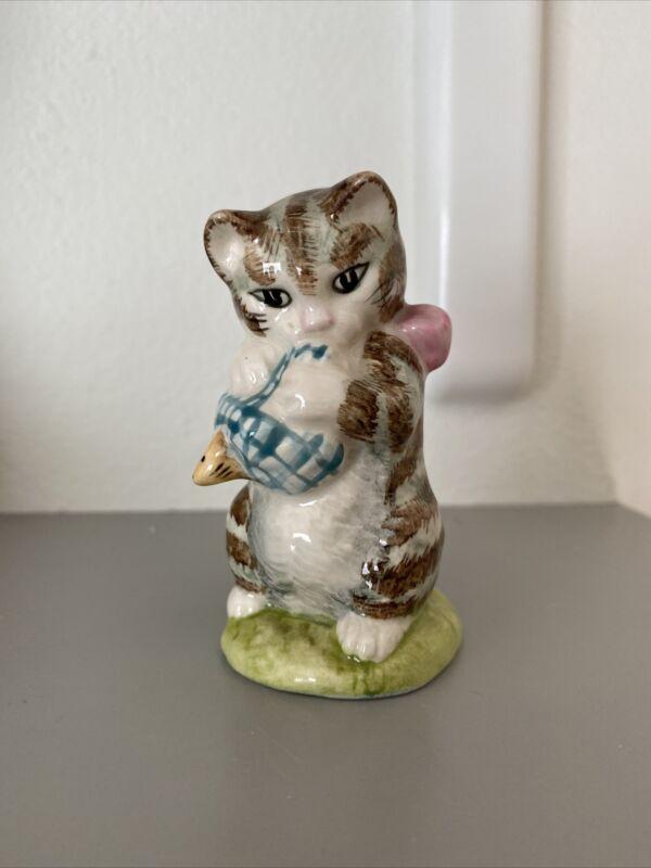 VINTAGE 1954 Beatrix Potter Miss Moppet Figurine F. Warne & Co. Beswick