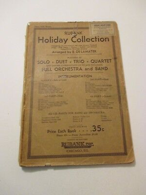 Vintage 1932 RUBANK Holiday Collection Solo Duet Trio Quartet Band Music Book