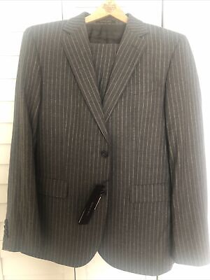 Manuel Ritz Men's Grey Pinstripe Suit NEW Absolutely Stunning!! Retails For 390€