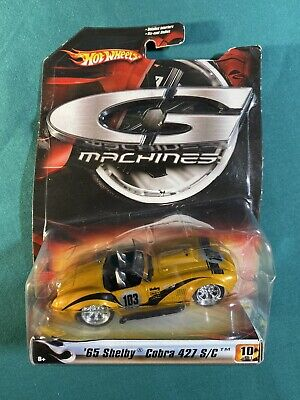 Hot Wheels G Machines '65 Shelby Cobra 427 S/C Gold Convertible 1:50 10/11 NEW
