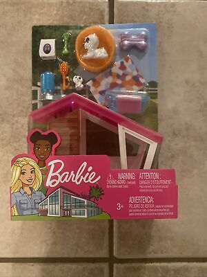 Mattel Barbie Dog House Puppy Dog Food Water Brush Bed Bone Pilloow Tub Toys