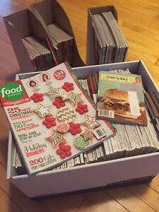 A whole whack of food / cooking magazines.