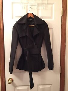 Brand New condition Size Small Woman's Black  Dress coat.