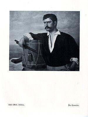 Jacob Welti, Zollikon Der Trommler Histor. Kunstdruck von 1913