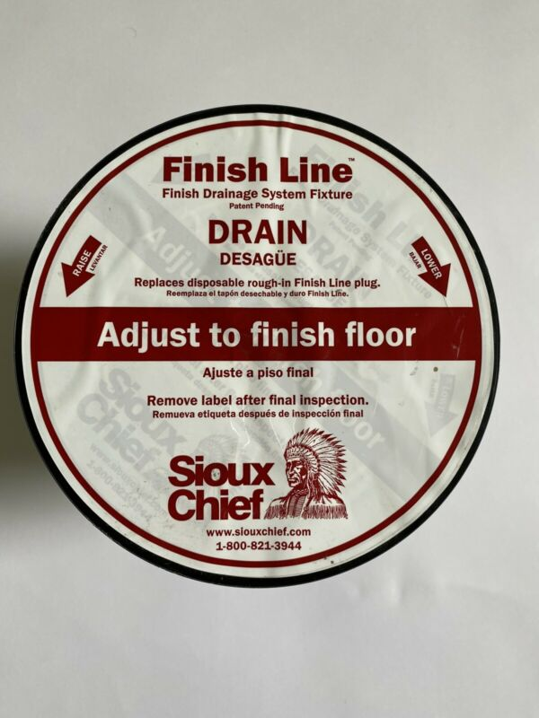 New, Sioux Chief Finish Line Drain