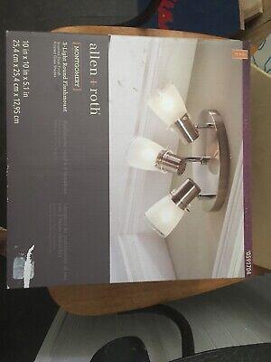 Flush Mount Kit (Allen + Roth Montgomery 3-Light Flush Mount Light Kit  Brushed Steel)