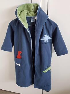 Boys WARM & Cosy Fleece Dressing Gown Size 4