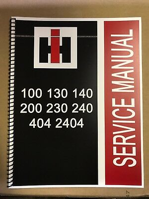 140 International Harvester Ih Technical Service Shop Repair Manual Farmall