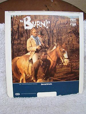 Rare Ced Videodisc  Burn    Cbs Fox Video  United Artists  Collectible