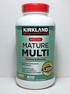 Adult Multi Vitamin - Kirkland Signature Mature Multi 400 Tablets *Adult 50+ Multi Vitamin & Mineral*
