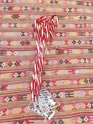 Vintage Blow Mold Christmas 10 Candy CANE Works Lights Set Yard Decor In 80s