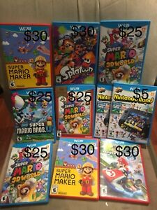 WII U GAMES SELL OR TRADE FOR OTHERS GAMES