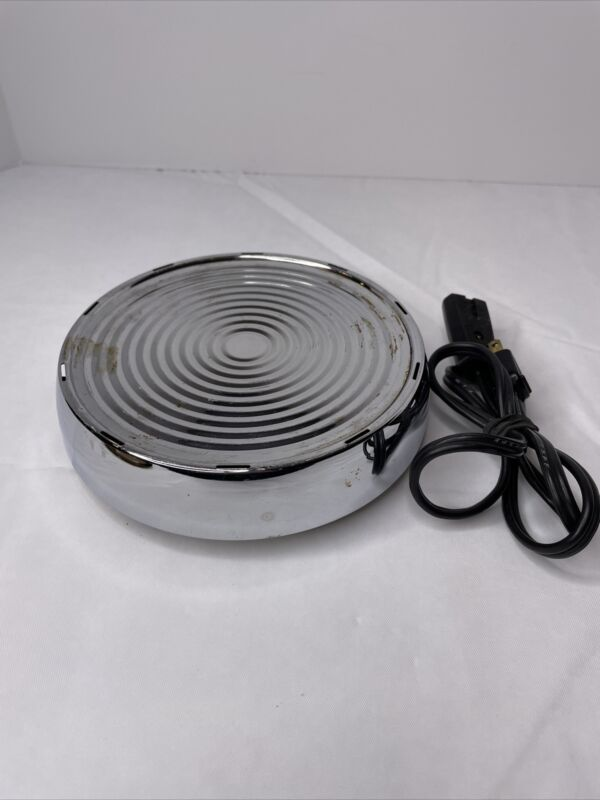 Vintage WEST BEND Heat-Rite electric Hot Plate Warmer Base # 3295 USA ~ Tested