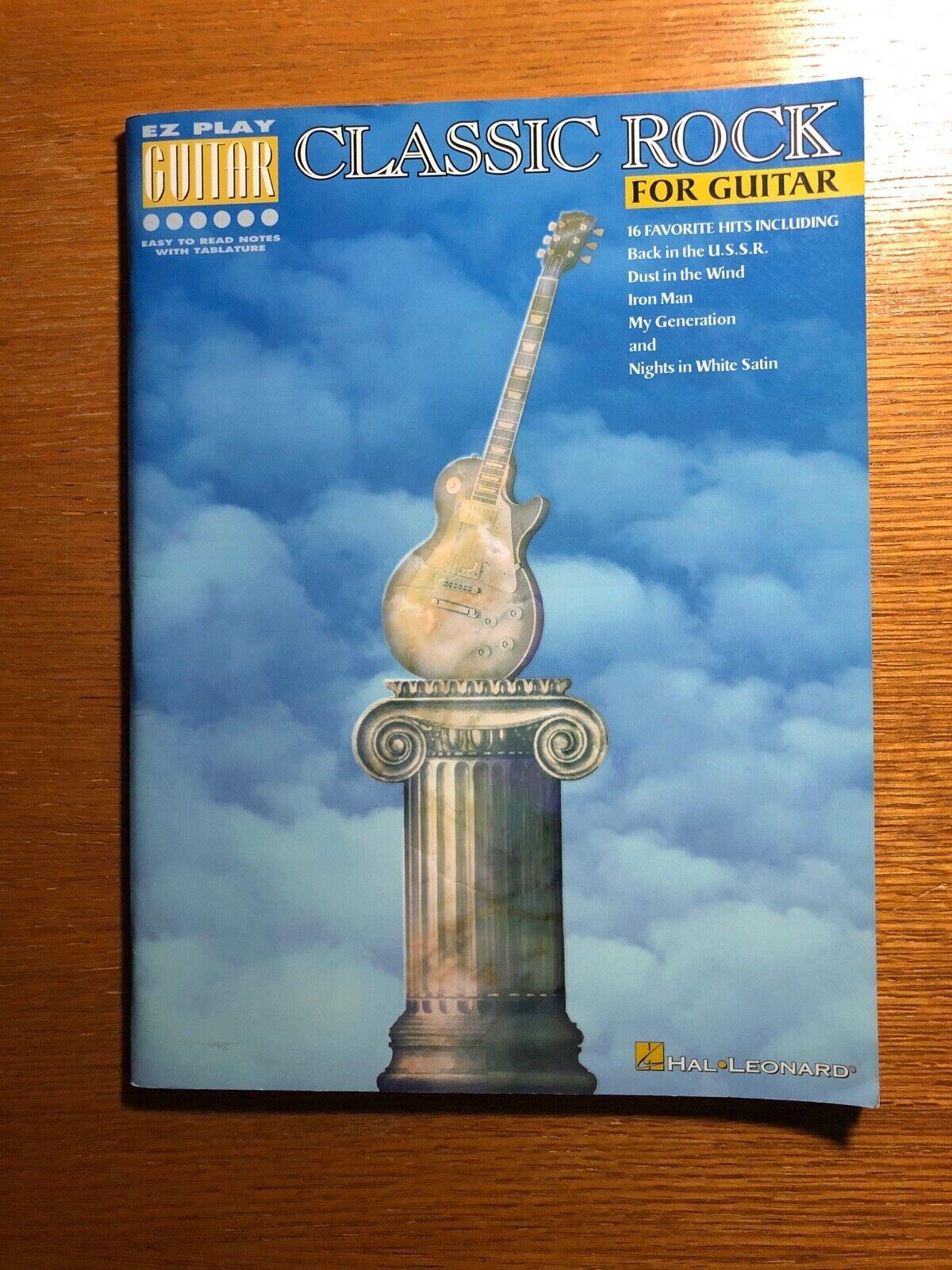 EZ Play Guitar - Classic Rock For Guitar - Hal Leonard - $5.75