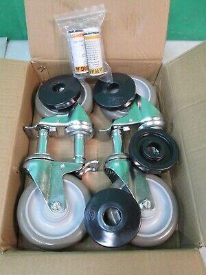 Nexel Polyurethane All Braking Stem 5 Casters Set Of 4 Model Ca5bp4 New