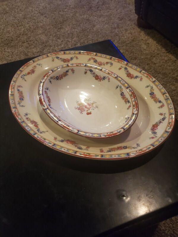 Vintage J G England dishware 2 platters with Richmond design