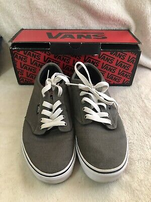 VANS Mens Atwood Canvas Shoes /Low Top Sneakers / Trainers - Charcoal UK Size 10