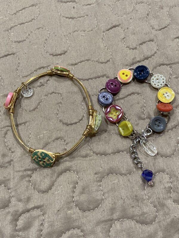 Matilda Jane Sandy Pearls Custom Button Bracelet With Bonus