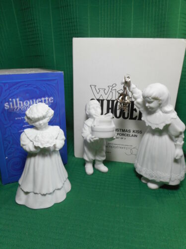 Dept 56 Silhouette Roses and Lace Plus A Christmas KIss