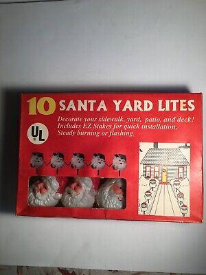 Santa blow mold yard lights, 10, New in box,