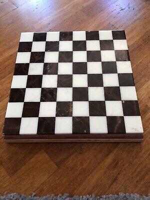 Alabaster Chess Checker Set - Chiellini Italian Alabaster Checker and Chess SetComplete Marble Rare Italy