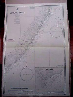 "1970 AFRICA SE Coast PORT ST JOHN's To DURBAN Sea MAP CHART 28"" x 41"" C52"