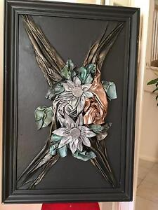 Wall hanging - handcrafted flowers in leather Beaumont Hills The Hills District Preview