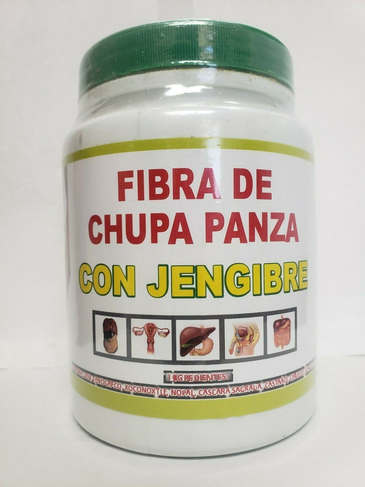 BIG SIZE fibra CHUPA PANZA + JENGIBRE + BAMITOL + QUEMADOR D GRASA WEIGHT LOSS
