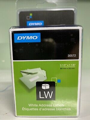 Dymo Lw White Adress Labels- 2 X 260 Count 30572. New Sealed Packaging.