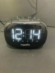 capello sleep & charge dual usb cell phone charger am/fm radio