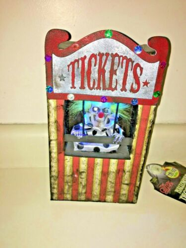 Halloween PROTOTYPE CLOWN TICKET BOOTH PROP. Sound/lights.