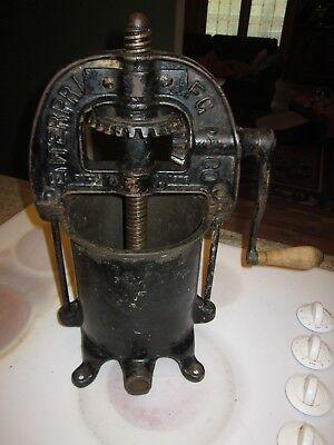 Antique Enterprise Sausage Fruit Lard Stuffer Press Cast Iron Farm