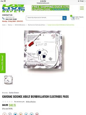 Cardiac Science Adult Defibrillation Electrode Pads